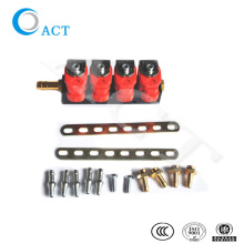 gas engine air intake system common injector rail