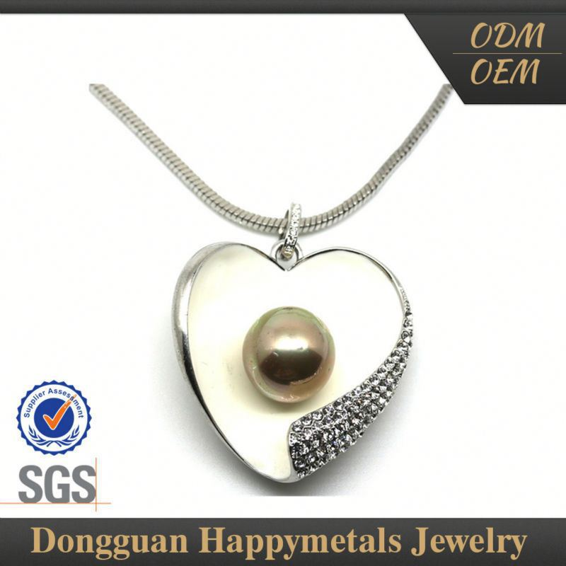 Sgs Stainless Steel Pearl Necklace Strands