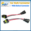 Used auto parts 9005 9006 HID ballast power cable,extension in-put cable for HID ballast
