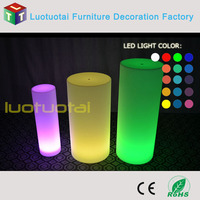 Die60*H100CM PE waterproof high plastic LED outdoor decoration cylinder light LTT-PC09