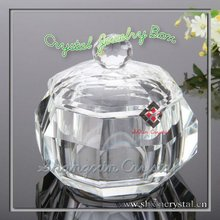 Clear Diamond Shaped Crystal Glass Jewelry Box