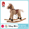 Hot sale wooden plush radio flyer rocking horse toys for kid from china factory