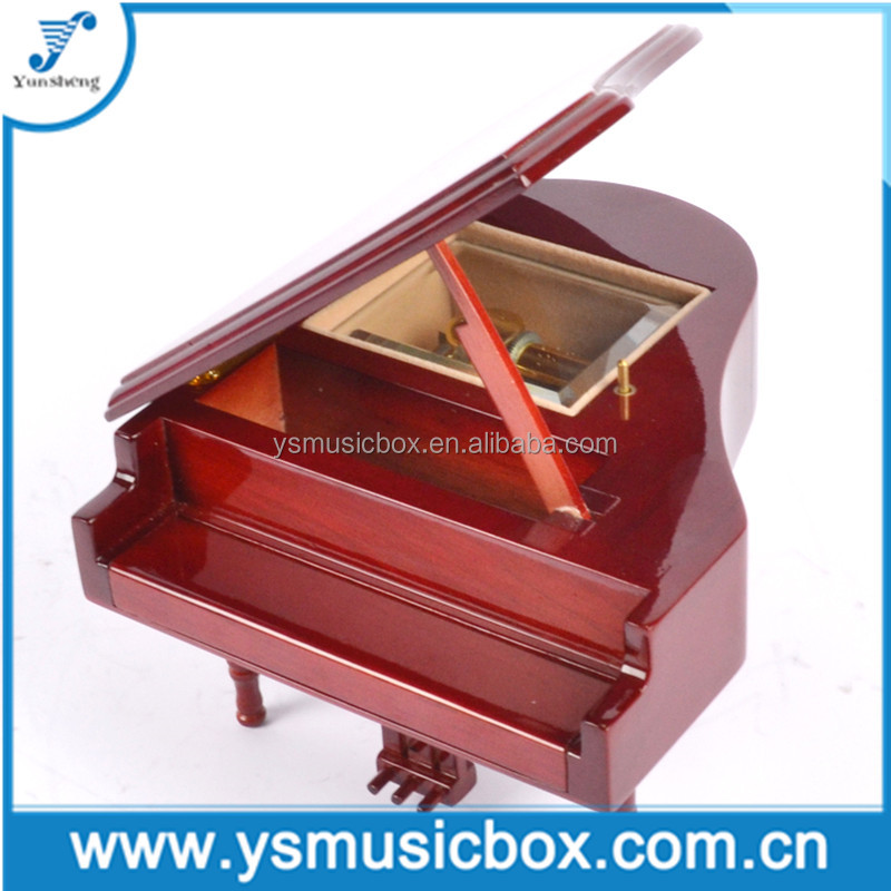 Wooden handmade Music Box Musical Gift Exquisite piano shaped musical box