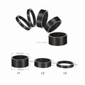 GUB TC-004 Carbon bicycle Spacer, super light carbon bike washer 4pcs per set