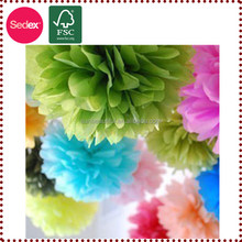 "12"" Hanging Tissue Paper Flower for Wedding Stage Decoration"
