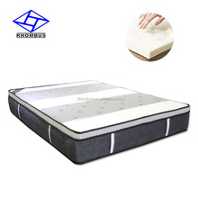 Compressed high quality knitted bamboo fabric box spring and foam bed mattress T006