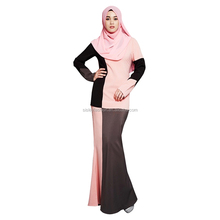 Fashion Design Model Baju Kurung Modern Muslim Clothing with Islamic Clothing Slim Dress