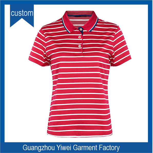 Newest Wholesale Stripe Women Polo Hot Sale Fashion Polo Women High Quality Wholesale Plain Woman Polo