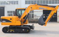 2015 New Type ! 9 ton 0.42 cbm bucket capacity hydraulic excavator with long arm long boom for river channel dredging