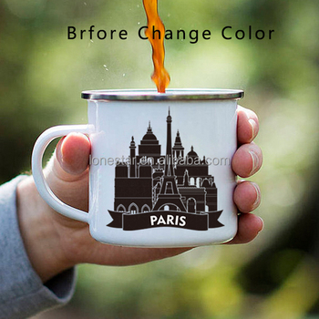 most popular products 11oz Color Changing Heat Sensitive Enamel Coated Mug