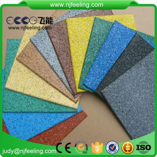 Indoor Safety Playground Rubber Wall Floor Tile