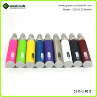 Accept paypal ! 2015 New products gs ego ii battery 2200mah vape mods with 3 colors display battery power