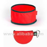Folding bowl for dogs (Red orange) - Dog bowl Pet bowl Pet Clothes Dog Picnic Item