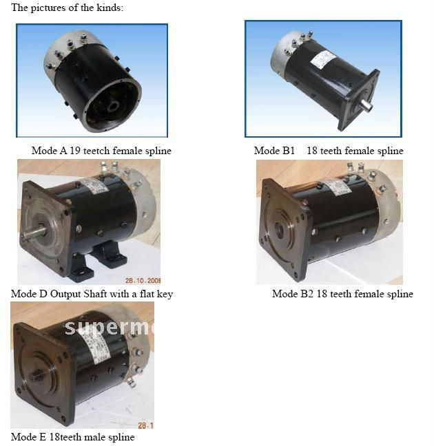 DC motor for all kinds of electric vehicles