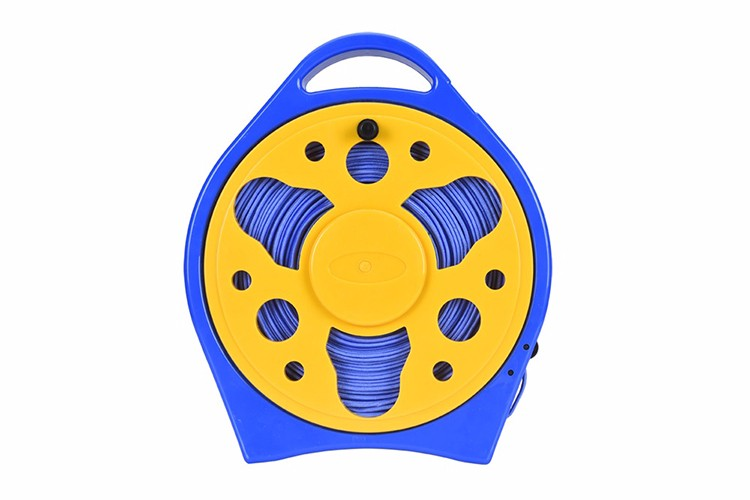 15m flat wall-mounted retractable metal garden hose reel