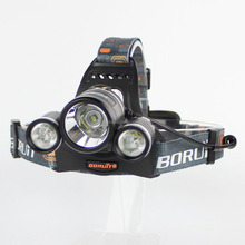 BORUIT RJ-3001 3xCREE XML T6 5000 Lumens 4-Mode USB Rechargeable LED Headlamp (2x18650)