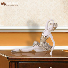Sexy Resin Ballet Dancing Girl Ballet Dancer Figurine Dancer Statue For Hotel Interior Design