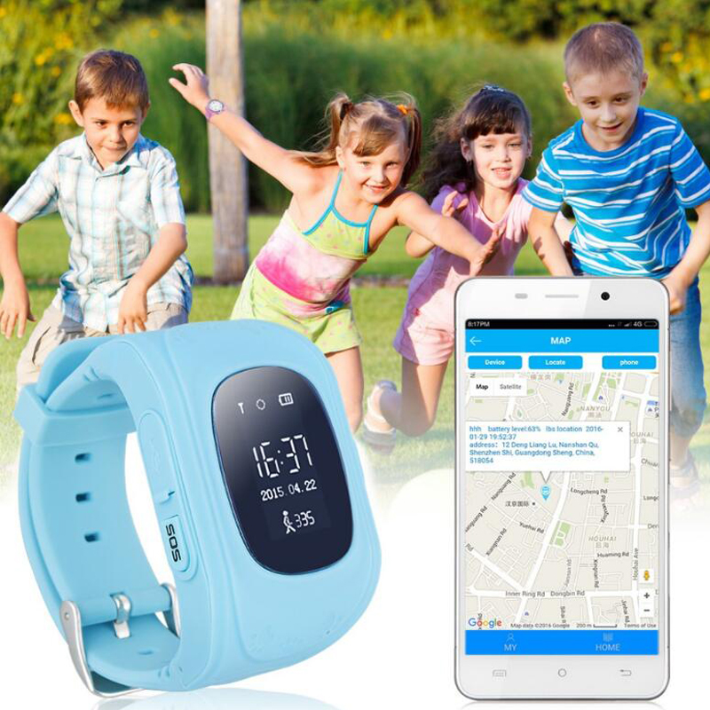 new production kid/student watch smart gps tracker support smartphone