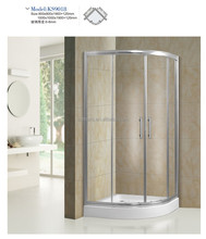 Arcylic stone base poland design temper glass shower enclosure