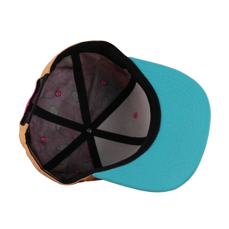 Custom 6 panel polyester sublimation print logo kids baseball snapback cap and baby hat
