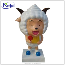 A lazy sheep sheep resin statue of modern cartoon characters NTFC-009Y