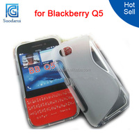 S Line Case for Blackberry Q5 TPU Gel Cover for BB q5 mix color