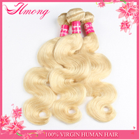 Top Quality Cheap 100%Unprocessed No Shedding Blonde Color Hair Weave Human Hair Extension