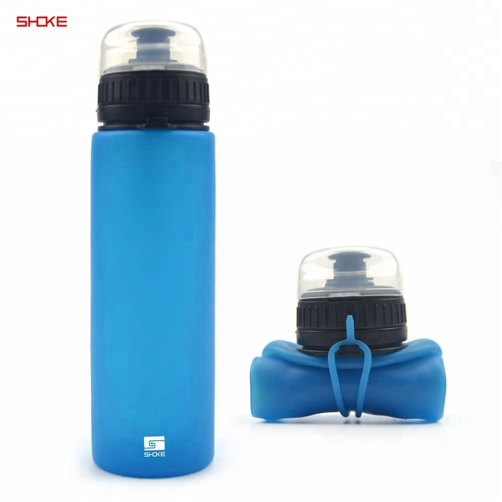 550ml Christmas Travel Bike Gym Outdoor Sports Big Collapsible Portable BPA Free Plastic Water Bottle