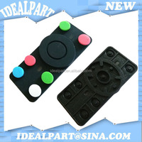 Conductive silicone rubber push button