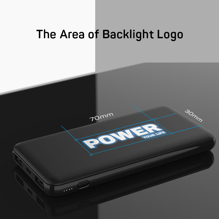 Gift Custom Light Up Logo 10000mAh Power Bank With LED