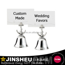 Metal Note Holder Kissing Bells Wedding Table Gift For Guests