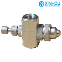 Stainless steel air atomizing industrial chemical fogging misting nozzle