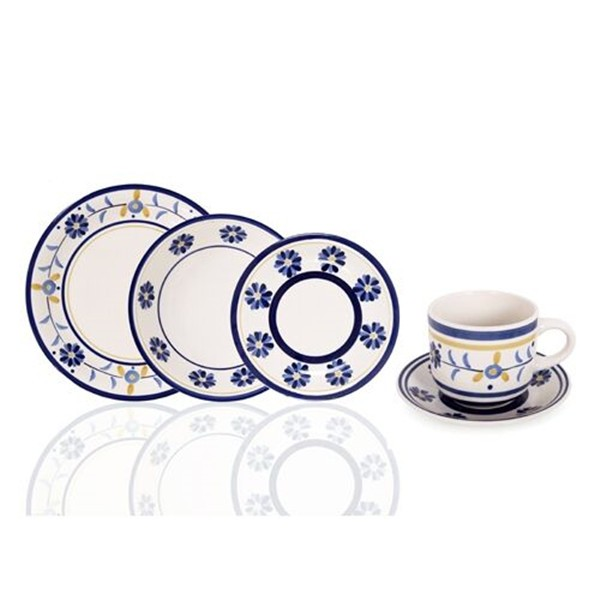 2016 NEW Certificated Handprinted stoneware,stoneware dinnerware,OEM ceramic stoneware plate dinner set manunfacturer