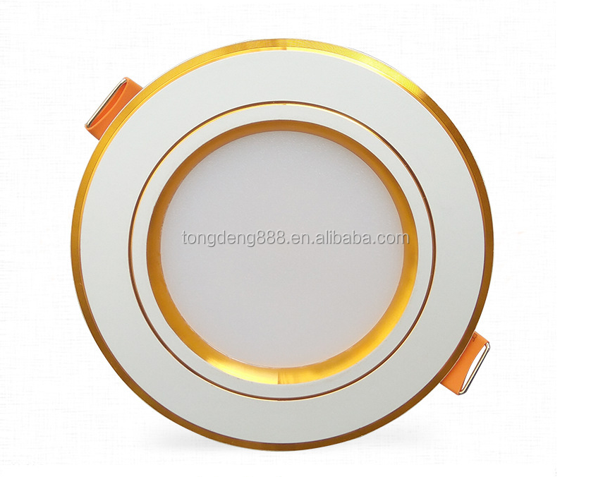 high power recessed 7w Golden Edge led light downlight