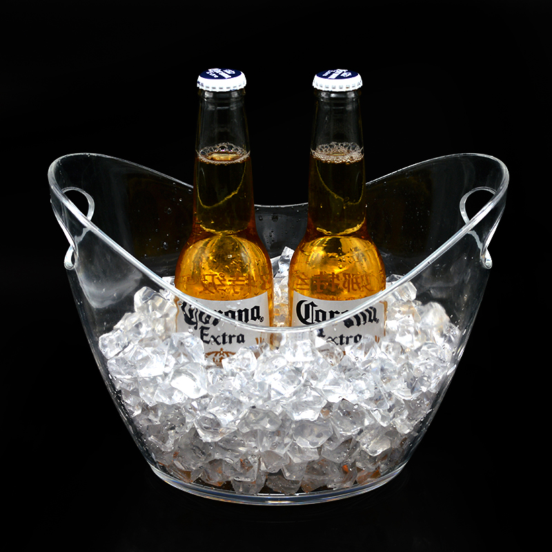 Champagne wine transparent vodka acrylic ice bucket cooler