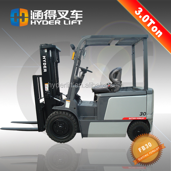 battery operated telescopic smart rough terrain hand forklift 3000kg with low price for sale
