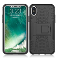 Tire pattern kickstand PC mobile phone case for iphone X