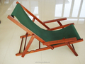 Garden Patio Folding Wooden Deck Chair - Choice of Colours (Green)