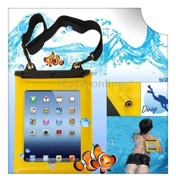 Factory plastic pvc waterproof bag for ipad and clear transparent window