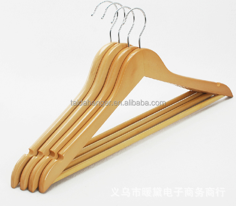 Wooden Hangers for clothesr P66 wood coat hanger