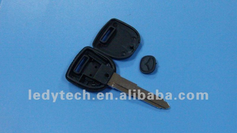 New Style Mazda chip key shell (installed glass and ceramic chip)& key blank& car key case