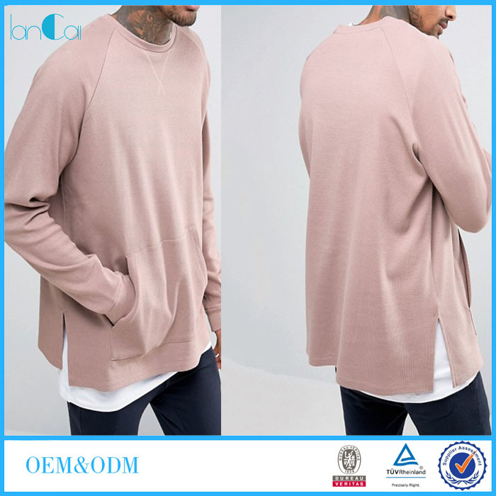 New Design Men Custom Plain Sweatshirt Wholesale Hip Hop Clothing For Men LC8241-N