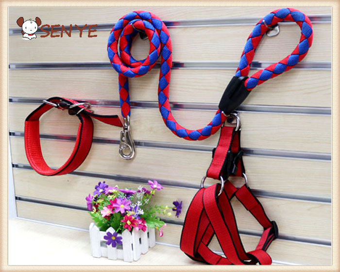 Rope Dog comforter Strap Harness security Walking Lead Set with collar