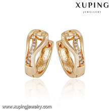 93044-xuping 18k gold fashion intimate jewelry natural gemstone earring
