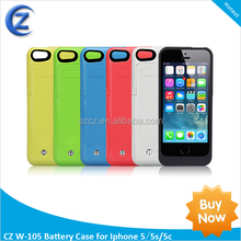 External 3500mAh for iPhone 5 Battery Case,ROHS Rechargeable Li-Polymer Backup Battery Case for iPhone5 5S