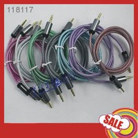 promotional unique new design stereo audio able 3.5mm with different colors free shipping