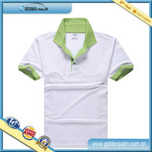 White And Green Color Combination Polo T Shirts,White Cotton Polo Shirt