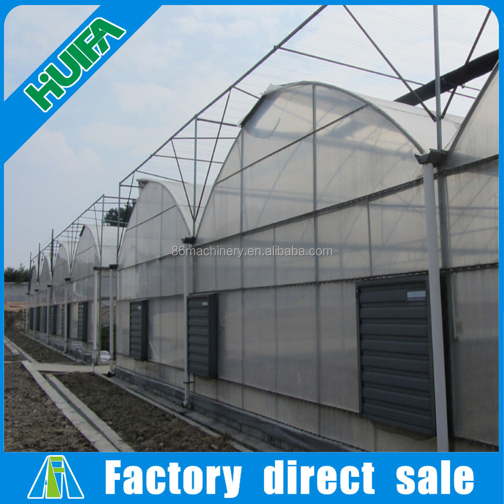 ISO & CE certificated industrial easy assemble prefabricated greenhouse