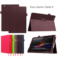 Flip Litchi Grain Leather Stand Cover Case For Sony Xperia Tablet Z