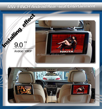 "Adjustable Headrest monitor Built in 9"" TFT/LCD IR/FM Transmitter and Game Function-Black for Ford/BMW X3/5/7 series"